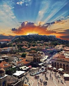 Kalimera from under the Acropolis in beautiful Greece. Today's high will be Wonderful Places, Beautiful Places, Amazing Places, Places Around The World, Around The Worlds, Greece Today, Greece Pictures, Athens Greece, Acropolis Greece