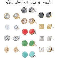 Stella & Dot featured stud earrings. Shop www.stelladot.com/jenniferjohnston