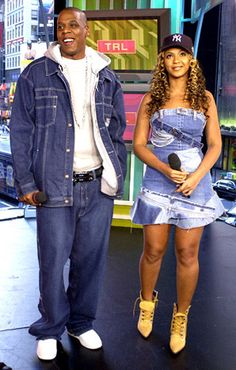 "November 21, 2002:Jay-Z and Beyonce made a joint appearance on MTV's TRL for ""Spankin' New Music Week."""