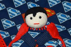 Super Hero Superman Baby Lovey and Blanket Set by JeannaSadorra,