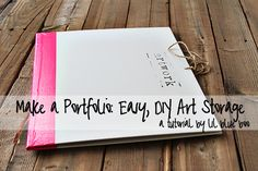 Easy portfolio to store artwork, papers, photographs, etc.  What a cool idea and it can be made in any size or canvas panels that you desire.  Ashley (blog author) is such an inspiration!!  I invite you to follow her blog daily as this young mother and wife fights cancer - she is such a positive and creative soul!!
