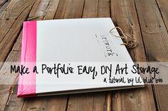 DIY art storage. Very cool concept