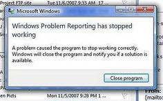 A problem has stopped the problem reporting from working?!