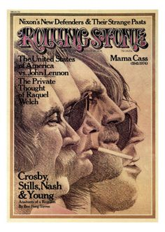 Crosby, Stills, Nash and Young, Rolling Stone no. 168, August 1974 Photographic Print
