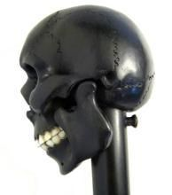 Mechanical Walking Stick, Large Wood Skull