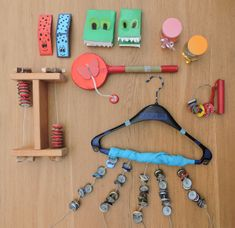 DIY homemade musical instruments - Homemade musical instruments at: jufwendy . - DIY homemade musical instruments - Homemade musical instruments at: jufwendy . Instrument Craft, Homemade Musical Instruments, Music For Toddlers, Baby Musical Toys, Music Gadgets, Music Crafts, Partition, Music Activities, Music Wall