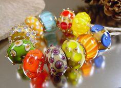 Handmade lampwork glass beads Artisan glass by AvasBeadGarden