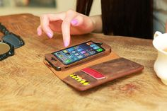 Acase Collatio Leather Wallet Case for iPhone 5