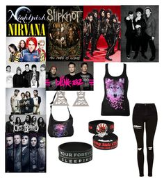 """Bands"" by demolition-vampire ❤ liked on Polyvore featuring Barker and Topshop"