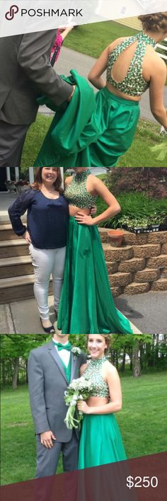 Sherri Hill prom dress 2 piece, hemmed but can be taken out. Sherri Hill Dresses Prom