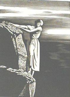 Kent, Rockwell (1882-1971) -Girl on Cliff