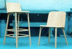 Split bent-wood chair by Arik Levy for TON