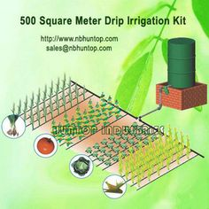 Garden tool Agriculture Watering irrigation equipments - Vegetables Gravity Drip Irrigation System Dripline Kit 500 M2