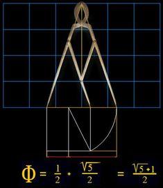 Resultado de imagen para compás de proporción aurea y el valor Phi