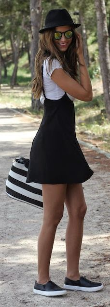 Black And White Outfit                                                                             Source