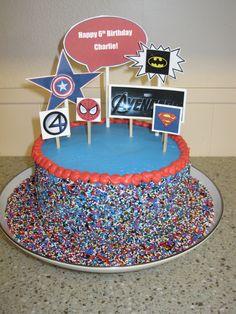 easy superhero cake | Easy way to do a superhero cake!