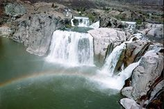 Shoshone Falls in Twin Falls, Idaho Shoshone Falls is among the most spectacular of natural beauties along the Snake River. At 212 feet, the falls are higher than Niagara Falls. They are best viewed during the spring and early summer, when water flows are high - depending on winter snow melt