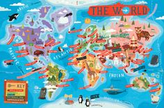 The WORLD by Aaron Meshon, via Behance