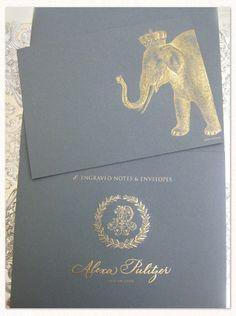 Royal Elephant Engraved Note