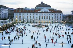 Enjoy an afternoon ice skating in the city center of Vienna, Austria Vienna Winter, 7 Places, Heart Of Europe, Ice Skating, Dolores Park, Beautiful Places, Street View, Explore, City