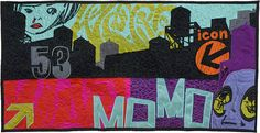 "NYC, 23"" x 44"", Silk and Cotton Quilt, ©2008"