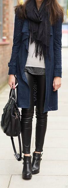 Navy Blue + Black