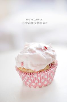 Chic Sprinkles: The Healthier Strawberry Cupcake