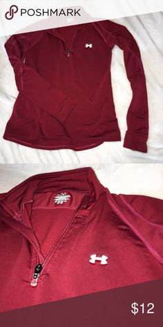 Women's Under Armour athletic zip-up In very good shape. Fits snug, perfect for work outs, or everyday wear. Under Armour Tops Sweatshirts & Hoodies