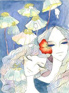 Flowers Illustration, K2, Painting, Illustrations, Flowers, Painting Art, Paintings, Painted Canvas, Drawings