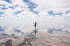 Salar de Uyuni in Bolivia is the world's largest salt flat