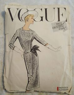 Vintage Vogue Couturier Sewing Pattern 995 1950s 50s Rare Wiggle Dress Skirt MCM