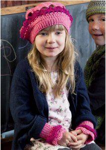 Berry Beret and Wrist Warmers free crochet pattern