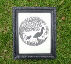A personal favourite from my Etsy shop https://www.etsy.com/au/listing/266327056/mother-and-baby-duck-ducks-wall-art