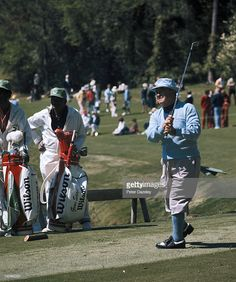 Gene Sarazen of the USA during the 1977 Masters Tournament at Augusta National Golf Club on April 1977 in Augusta, Georgia.