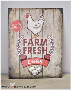 Hanging Signs, Wall Signs, Chicken Signs, Antique Signs, Farm Yard, Wooden Background, Vintage Ads, Decoration, Framed Artwork
