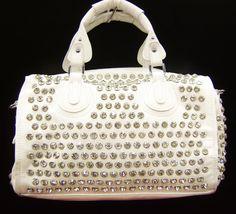 White Bling Bag...@Julia Vogue