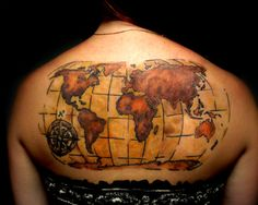 Black afro woman tattoo by trippdaartist tattoos by tripp da want something like thisexcept a bit smaller and a little world map tattoosworld gumiabroncs Images