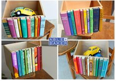 The Original Modern Library Storage Bin, Stylish Storage for cd's, dvd's, magazines, and other much loved clutter. $58.00, via Etsy.