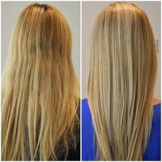 Before & After! #butteryblonde