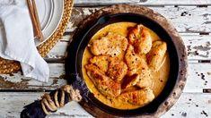 Täyteläinen pippurikana — Peggyn pieni punainen keittio Paella, Gluten Free Recipes, Hummus, Free Food, Cooking Recipes, Dinner, Baking, Ethnic Recipes, Koti