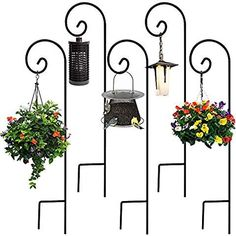 Online shopping from a great selection at Patio, Lawn & Garden Store. Lawn And Garden, Garden Art, Bird Feeding Station, Hanging Planters, Wrought Iron, Garden Landscaping, Gardening Tips, Wedding Flowers, Backyard