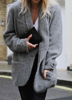 FRENCH CHIC Grey Coat - Mija | Creators of Desire - Fashion trends and style inspiration by leading fashion bloggers http://FashionCognoscente.blogspot.com