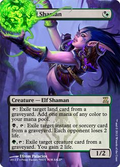 Deathrite Shaman, zeerbe, proxy, digital render, Z's Proxy Factory, MTG, Magic the Gathering