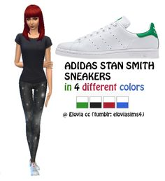 Adidas Stan Smith sneakers by simsappearances