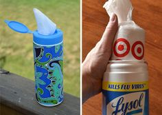 Store plastic bags in an empty wipes container. | 30 Insanely Easy Ways To Improve Your Kitchen