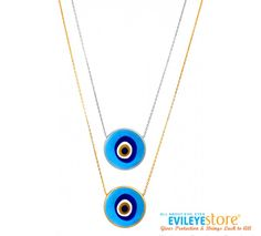 Turkish Blue Lucky Eye Necklace by Evil Eye Store