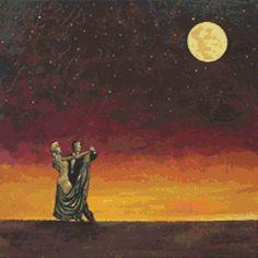 Modern cross stitch kit 'Moon Dance' by Robert Bretz by GeckoRouge, $78.33