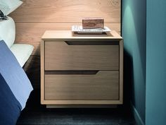 Oak bedside table with drawers FAST Wardrobe Door Designs, Wardrobe Design Bedroom, Bedroom Bed Design, Bedroom Furniture Design, Home Room Design, Bedroom Decor, Bedroom Sets, Plywood Furniture, Bed Furniture