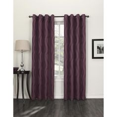 Purple blackout curtains for the bedroom with personality.