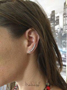 cz sterling silver ear crawlers ear climber by LiveLoveLeaf